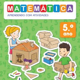 """Capa do Livro """"Matemática: Aprendendo com Atividades - 5º Ano"""""""