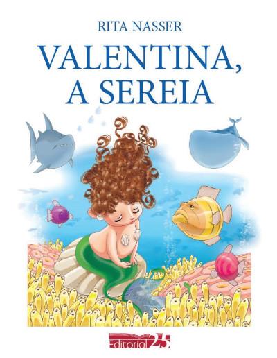 """Capa do livro """"Valentina, a Sereia"""""""